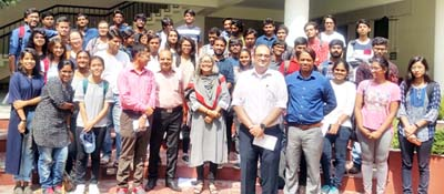 Students and faculty members of SMVDU Katra and SPA New Delhi posing on conclusion of 2-day 'Joint Studio' workshop at SMVDU Katra.