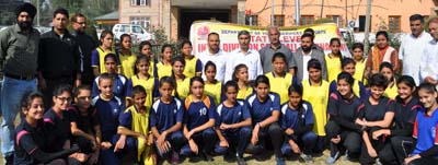 Participants of Softball Tournament posing for group photograph at DPL Pulwama.