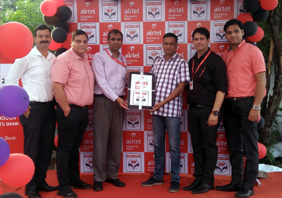 Mr Desai, COO-J&K Bharti Airtel along with Airtel Payments Bank and HPCL team inaugurating HPCL fuel stations as banking point in Jammu.