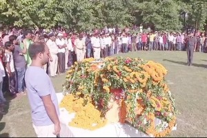 Last rites of martyred BSF ASI performed with full state honours
