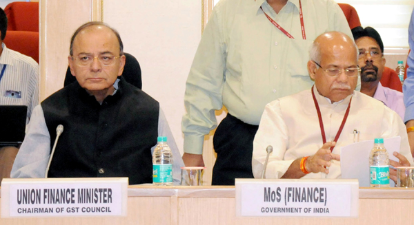 Union Minister for Finance and Corporate Affairs Arun Jaitley chairing the 22nd GST Council meeting in New Delhi on Friday.