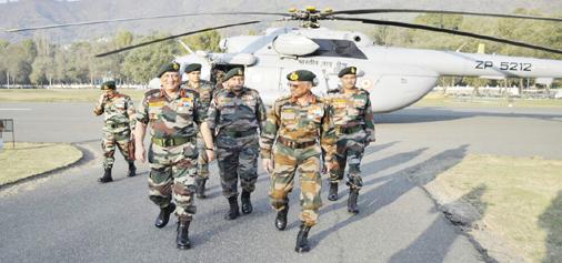 Army chief Gen Bipin Rawat in Srinagar on Wednesday.