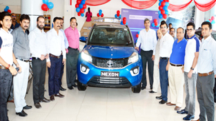 Tata Nexon being launched in Jammu.