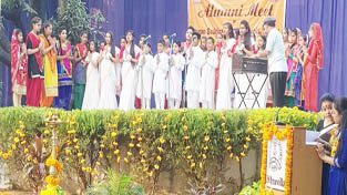 A song being presented by the students at DBN Vidya Mandir in Jammu.