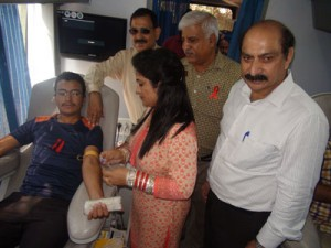 MAM College organizes  blood donation camp