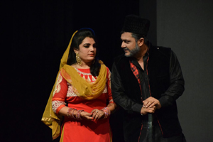 A scene from the play 'Chupkar'.