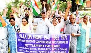 PoJK displaced persons hold protest demonstration