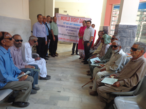 Patients during an eye surgical camp at Rotary Hospital, Udhampur.