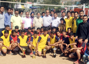 Winners posing for group photograph at Poonch.