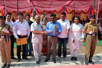 Prof Avtar Singh Jasrotia inaugurating Inter-Collegiate Kabaddi Tournament in Kathua on Tuesday.