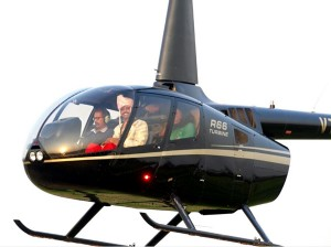 Groom creates history, flies on chopper to tie knot