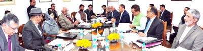 Governor and Chief Minister chairing Council Meeting of SKUAST-K.