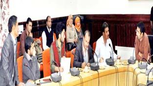 Coordinator CM's Grievance Cell Tassaduq Mufti chairing grievance redressal camp at Nubra.
