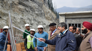 Governor N N Vohra during his visit to Gurez valley on Friday.