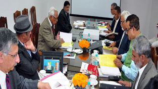 Governor N N Vohra chairing Council meeting of SKUAST-J.