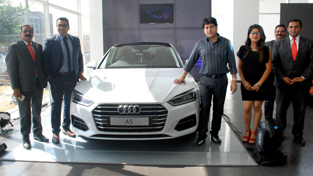 Audi A5 being launched in Jammu.