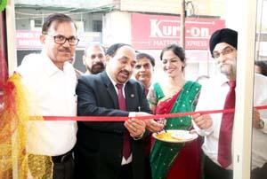 Zonal Manager, PNB, Dr R K Gupta inaugurating a business unit at Sarwal in Jammu.