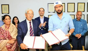 Yuvraj launches YouWeCan collaboration with students of Shoolini University
