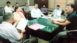 IGP Armed SA Watali reviewing Diwali Mela arragements.