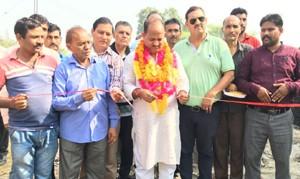 Manyal inaugurates newly  installed transformer