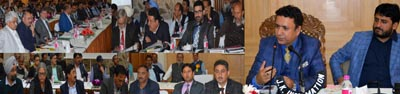 FCS&CA Minister Ch Zulfkar Ali chairing a meeting at SKICC on Saturday.