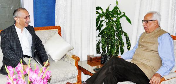 Dineshwar Sharma meets Governor