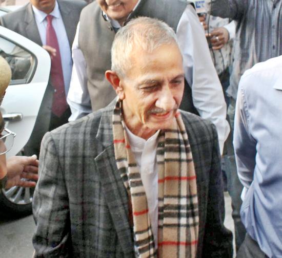 Interlocutor Dineshwar Sharma on his arrival at Jammu on Thursday. -Excelsior/Rakesh