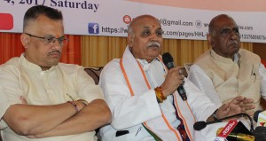 Togadia says Jammu being  discriminated even in PDP-BJP rule