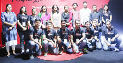 Director IIM Sirmaur, Prof Neelu Rohmetra and participants of TEDx event.