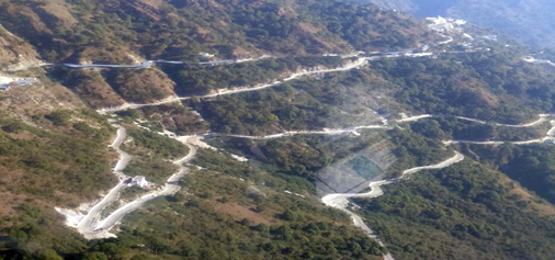 A view of newly constructed track between Katra and Adh Kunwari.