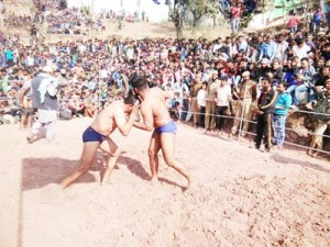 Reasi Police organises Wrestling competition