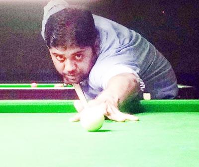 Ishuk Choudhary aiming target at Billiards Hall in MA Stadium.