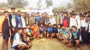 Mendhar Club lifts Volleyball title