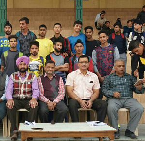 J&K Athletic squad posing along with dignitaries before leaving for AP.