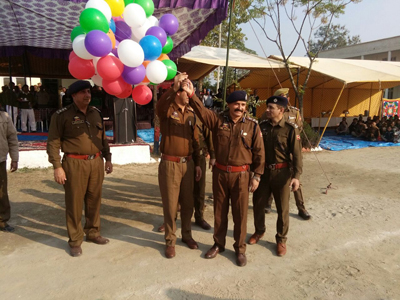 Police Officers inaugurating District Sports Festival at Samba.