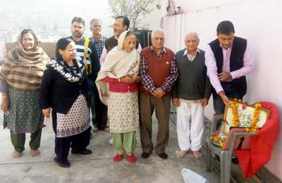 BJP leaders and others paying tributes to martyrs of Rajouri on Saturday.