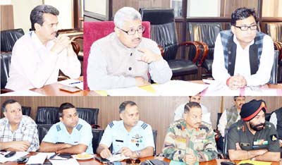 Div Com Jammu Dr Mandeep K Bhandari chairing a meeting on Tuesday.Div Com Jammu Dr Mandeep K Bhandari chairing a meeting on Tuesday.