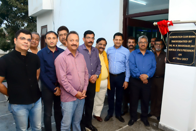 Divisional Commissioner, Jammu, Mandeep Bhandari and executive committee members of Amar Singh Club during the inauguration of renovated guest rooms of the Club.