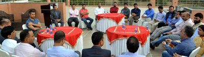 Office bearers of KAS Officers Association holding a meeting at Jammu.