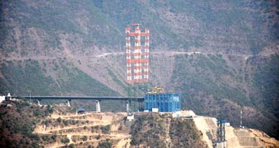 A view of world's highest bridge site in Reasi district. -Excelsior/Karandeep Singh