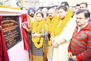 Priya, Rajesh lay foundation for beautification of Shaheedi Chowk