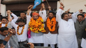 NSUI national president from  J&K accorded rousing reception