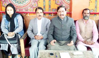 """Excelsior Correspondent SRINAGAR, Nov 12: Panun Kashmir (PK) today reiterated its separate homeland demand for Kashmiri Pandits in Valley and also sought abrogation of State subject laws including Article 370 and Article 35A, calling them """"absurd"""". Addressing press conference, Panun Kashmir president, Ashwani Kumar Chrungoo said that the Kashmiri Pandit displaced community continues to live as refugees in their own country. """"A serious dialogue process should be initiated by the Government of India for the establishment of a separate Homeland in Kashmir valley as explicitly demanded in the Margdarshan Resolution of 1991"""", he added. """"There has to be a full and free flow of the Indian Constitution in the Homeland that needs to be designated as the Union Territory. As the first and primary stakeholders to the land of Kashmir, we need to declare from the land where 'the ashes of our forefathers and the temples of our gods lay' that Kashmiri Pandits belong to Kashmir and have an equal stake in Kashmir,"""" he said. Chrungoo said the Kashmiri Pandits have clarified that the Article 370 and Article 35A have become an unnecessary baggage of the past errors of the rulers of India and there is a national consensus to review these absurd laws that are in contravention of the fundamental rights guaranteed under the Indian Constitution to the citizens of India. """"They should be abrogated under the due process of law as soon as possible and the Constitution (Application to Jammu & Kashmir State) Order 14th May 1954, since was/is an intentional fraud, be also abrogated along with,"""" he said. The PK president said that they are of the strong belief and understanding that no Government is mandated to discuss and negotiate the issue of unity and integrity of India and Jammu and Kashmir is no exception in this regard. """"The Government needs to make it very clear than to keep the people in dark as it has happened for the last more than six decades. There is an imperative need to restore peace"""