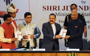 Dr Jitendra presents book on 'Organ Donation' to President Kovind