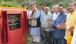 Rana lays foundation stone of  Sulabh Sochaliyas, Bathing Ghats