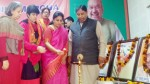 BJP leaders lighting the lamp to inaugurate Mahila Morcha Working Committee meet at party headquarters, Trikuta Nagar on Thursday. 	—Excelsior/Rakesh