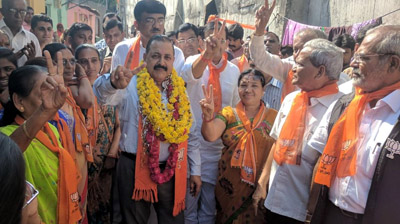 "Union Minister Dr Jitendra Singh during the BJP's ""Gujarat Gaurav Sampark Abhiyan"" at Bharoch, Gujarat, on Tuesday."