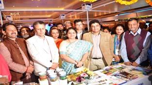 MoS for Education Priya Sethi during inauguration of Travel & Tourism Exhibition on Thursday.