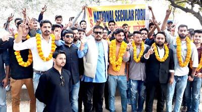 Newly constituted NSF team of Jammu University.