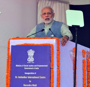 Parties seeking votes in Ambedkar's  name tried to erase his contribution: Modi